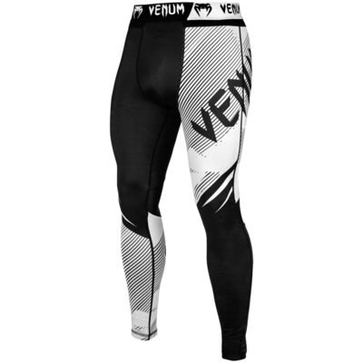 Venum Legging NoGI 2.0 Tight Spats Zwart Wit BJJ Fightgear