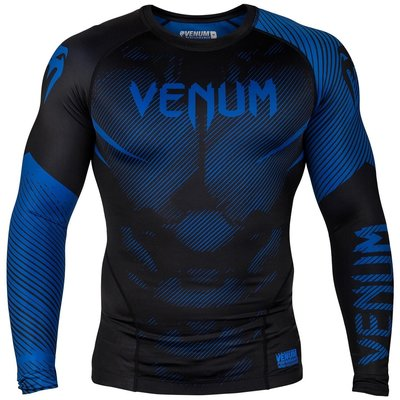 Venum NOGI 2.0 BJJ Rash Guard L/S Zwart Blauw
