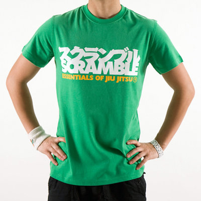 SCRAMBLE BJJ  Essentials T Shirt Green BJJ Winkel
