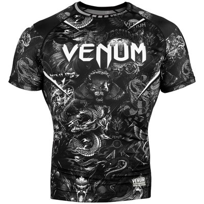 Venum Kleding ART Rash Guard Short Sleeves Zwart Wit
