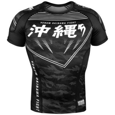 Venum OKINAWA 2.0 Rashguard Short Sleeves Zwart Wit