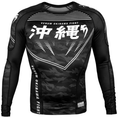 Venum Kleding Okinawa Rash Guard Long Sleeves Zwart Wit