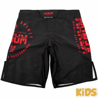 Venum Broekje Kids Fight Shorts Signature Kids Zwart Rood