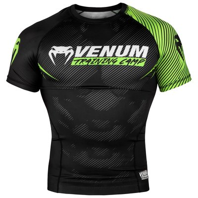 Venum Training Camp 2.0 Rash Guards S/S Zwart Neo Geel