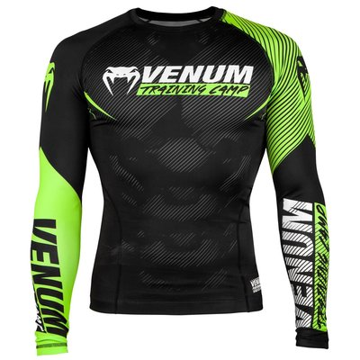 Venum Training Camp 2.0 Rash Guards L/S Zwart Neo Geel