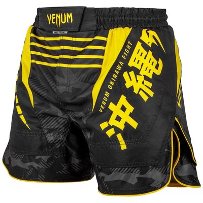 Venum Fight Shorts OKINAWA 2.0 Zwart Geel