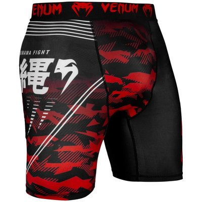Venum Okinawa 2.0 Compression Short Zwart Wit Rood