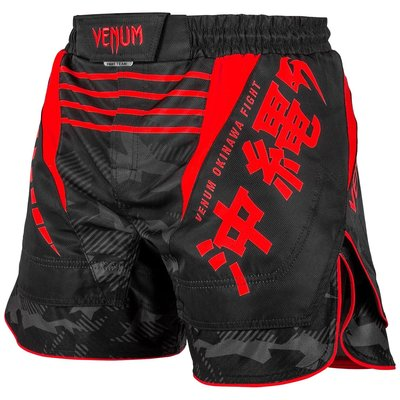 Venum Fight Shorts OKINAWA 2.0 Zwart Rood
