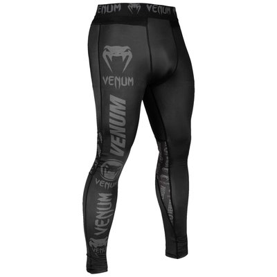 Venum Leggings Logos Spats Tights Zwart Grijs