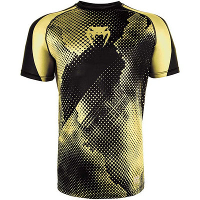 Venum Dry Tech Technical T Shirt Black Yellow Vechtsport Kleding