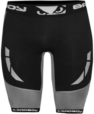 Bad Boy Sphere Compression Vale Tudo Shorts Black Grey