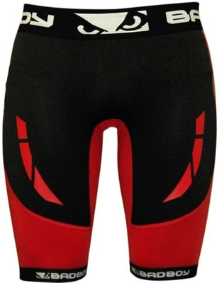 Bad Boy Sphere Compression Vale Tudo Shorts Black Red