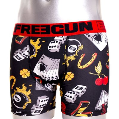Freegun Underwear Men Original Boxershorts Lucky Black Red