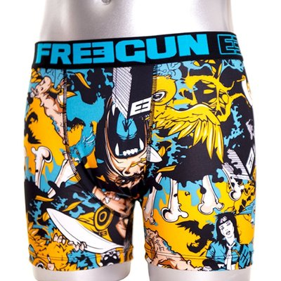 Freegun Underwear Men Original Boxershorts King Kong Black Blue