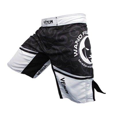 Wanderlei Silva MMA Fight Shorts Black White by Venum