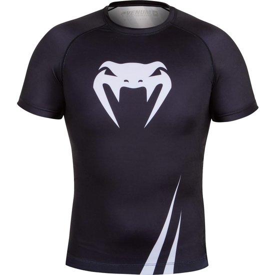 venum challenger rash guard s s black white vechtsport kledingvenum challenger rash guard s s black white vechtsport kleding