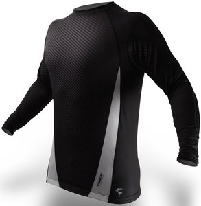 PunchTown Rashguard Carbon Black Long Sleeve
