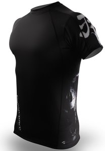 PunchTown Rash Guard Deranged Black Short Sleeve