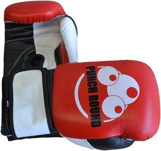 Punch Round™ Strike Bokshandschoenen Leder Rood Zwart Wit