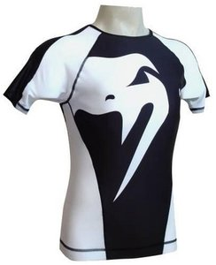 Rashguard Giant by Venum Black White by Venum MMA Kleding