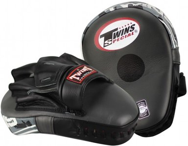 Twins Deluxe Punching Mitts Pads PML 12 Leather Black Ice