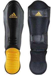 Adidas Hybrid Super Pro Kickboks Scheenbeschermers Zwart Geel