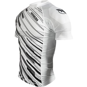 Hayabusa Metaru Charged Rash Guard S/S White BJJ MMA Shop