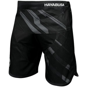 Hayabusa Metaru Charged Jiu Jitsu Fight Shorts Black Grey BJJ Kleding