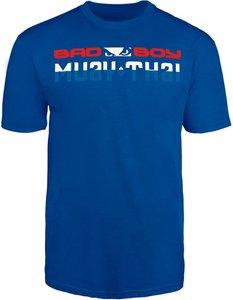 Bad Boy Muay Thai DISCIPLINE T Shirt Blauw Thaiboks Kleding