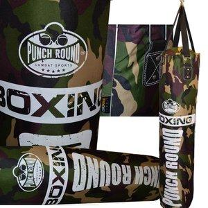 Punch Round Camo Punching Bag Bokszak