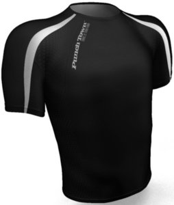 PunchTown Rash Guard Classic Dark Short Sleeve Black