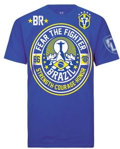 Fear the Fighter Blood Line T Shirts Blue