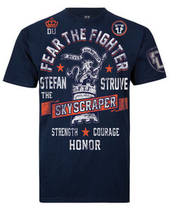 Fear the Fighter Stefan Struve T Shirts Navy