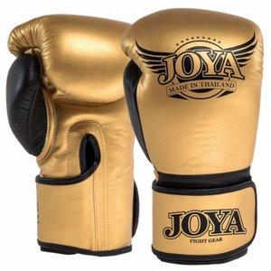 Joya POWER MAX Kickboks Handschoenen Goud Zwart Leder