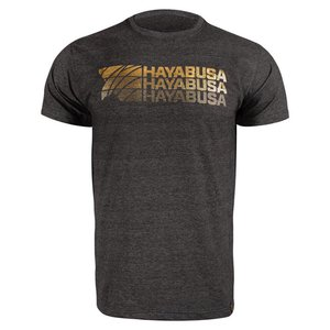Hayabusa T Shirt Triple Threat Zwart Goud Hayabusa Fightwear