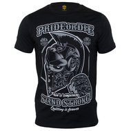 Pride or Die Stand Strong T Shirt Black Grey
