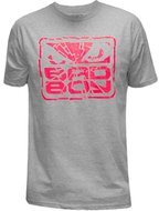 Bad Boy Shattered T Shirt Heather Grey Pink