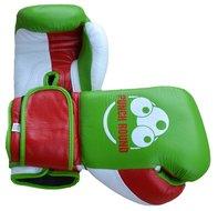 Punch Round™ Champion Bokshandschoenen Leder Green Red White
