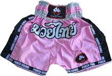 Punch Round™ Girls Kickboks Broekje Muay Thai Pink Muay Thai Kleding