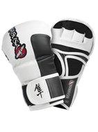 Hayabusa Tokushu 7OZ MMA Hybrid Sparring Gloves White