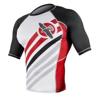 Hayabusa Elevate Rash Guard S/S White Red MMA Shop