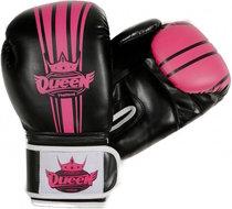Queen Dames Kickboks Bokshandschoenen Pu Black Pink