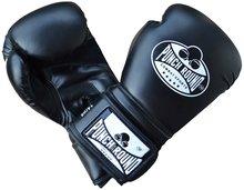 Punch Round Combat Sports Kickboks Handschoenen Black Skyntex