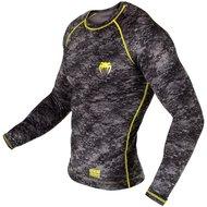 Venum Tramo Rashguard L/S Black Yellow MMA Vechtsport Winkel