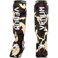 Venum Kontact Shin Guards Forest Camo Instep Cotton