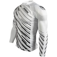 Hayabusa Metaru Charged Rash Guard L/S White IBJJF