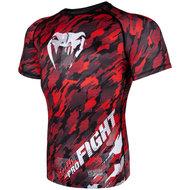 Venum Kleding Tecmo Rashguard S/S  Black Red Venum Fightshop Nederland