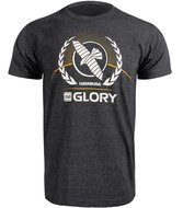 Hayabusa GLORY Kickboxing T Shirt Zwart Kickboks Kleding