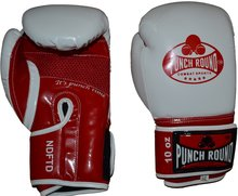 Punch Round Combat Sports Kickbokshandschoenen 10oz White Red