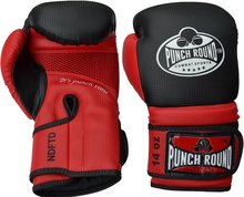 Punch Round Carbonix Bokshandschoenen Matte Black Red